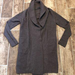 LAFAYETTE 148 Wool CARDIGAN Sweater S Cowl Neck